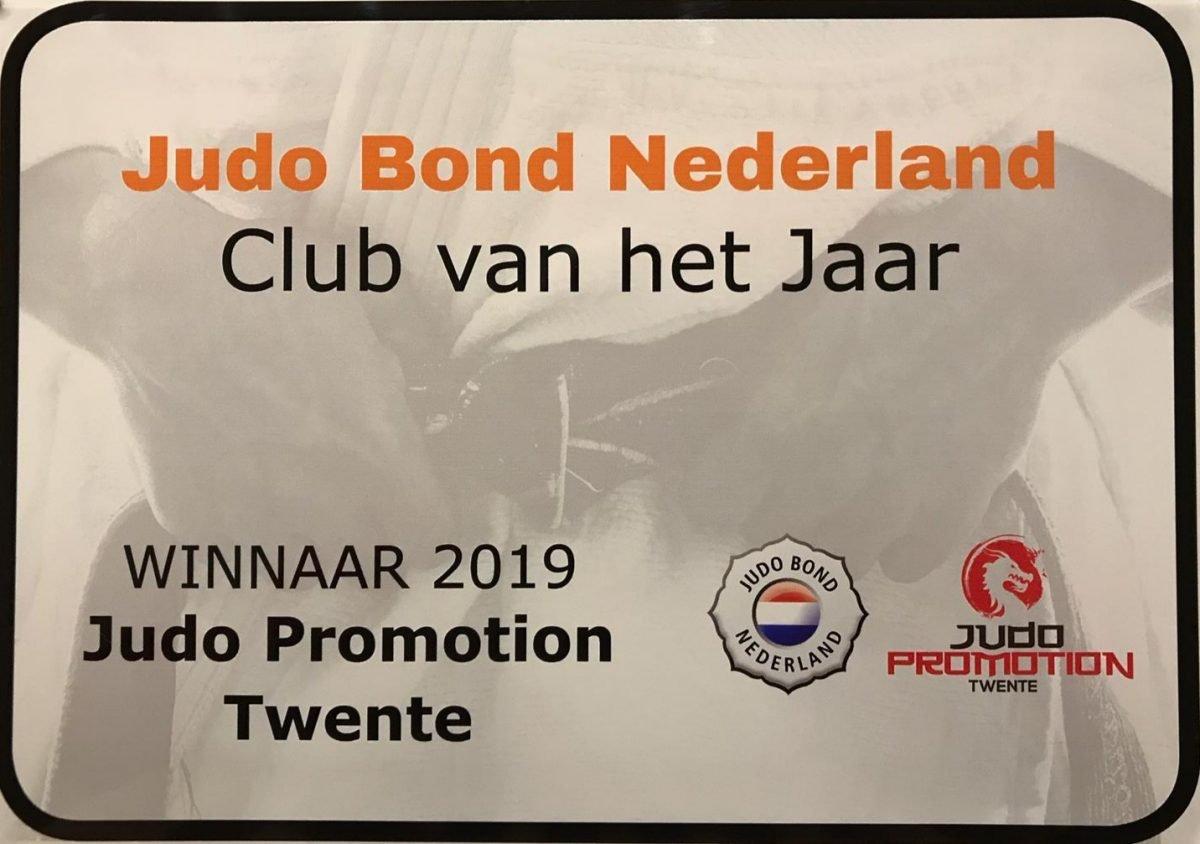 Judo Promotion Twente Club van het jaar 2019