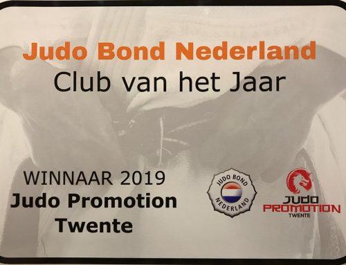 Judo Promotion Twente verkozen tot 'club van het jaar 2019'.