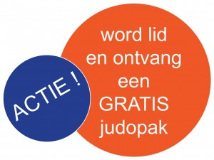 Logo actie gratis judopak