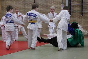Judo Promotion Twente Piet slecht in struikelspel.