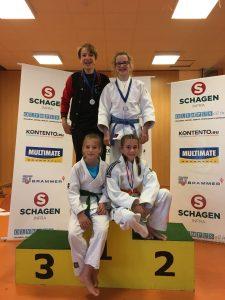 Marijn Hanstede, Emi Zwak, CHiara Melisie en Hanneke Plaggemars