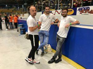 Coaches Sirach Cooiman, Rico Harder en Martin Evenberg