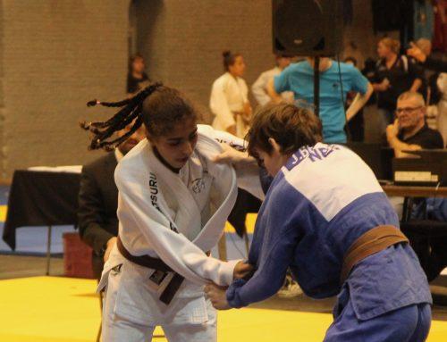 Judoka Nohade Riadi scoort eerste internationale punten in Bad Blankenburg.