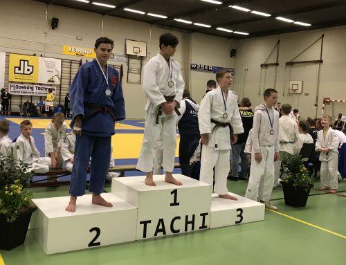 Judoka Twan Weber maakt in Beilen geslaagde rentree.