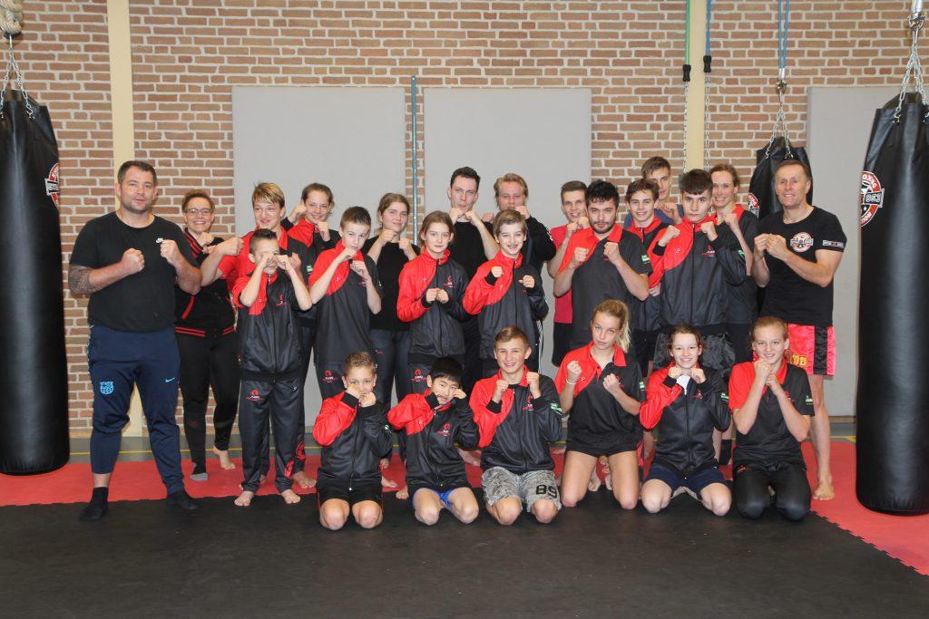 Deelnemersgroep bokszaktraining