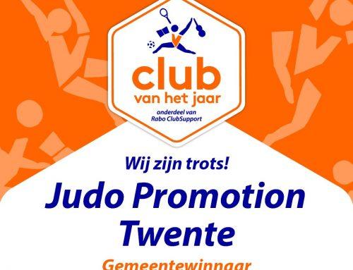 Judo Promotion Twente verkozen tot CLUB VAN HET JAAR 2021 van Hengelo.